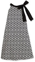 Helena Sleeveless Geometric Swing Dress, Black/White, Size 7-14
