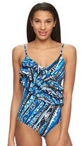 A Shore Fit Long Torso Printed One-Piece Swimsuit - Women's