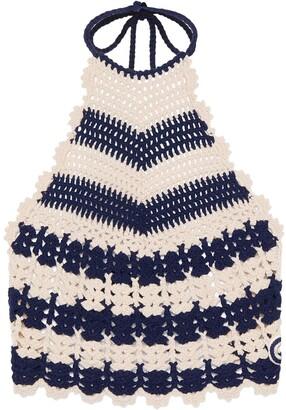 Gucci Crochet-Knit Tank Top