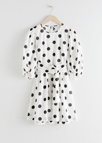And other stories Belted Polka Dot Mini Dress