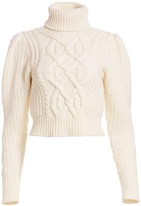 Wandering Open-Back Cropped Turtleneck Sweater
