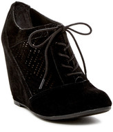Fergalicious Tess Lace-Up Wedge Bootie