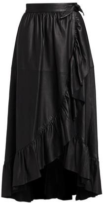 Zimmermann Ladybeetle Leather Wrap Midi Skirt
