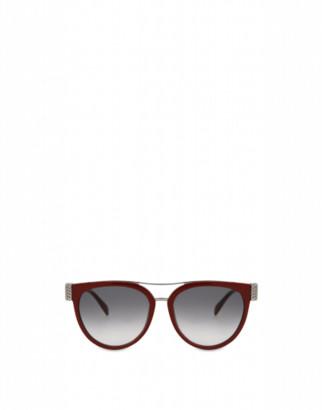 Moschino Bijou Chain Acetate Sunglasses Woman Red Size Single Size