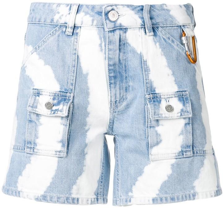 Ganni Tie-Dye Denim Shorts
