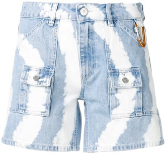Ganni Tie-Dye Denim Shorts
