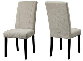 Cecil Darby Home Co Upholstered Parsons Chair in Ivory Darby Home Co