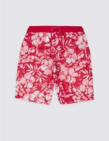 Marks and Spencer Floral Print Swim Shorts (3-14 Years)