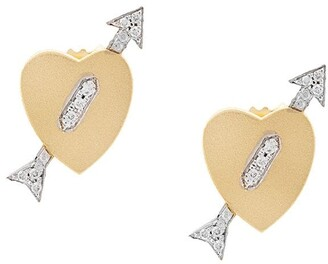 Irene Neuwirth 18kt Yellow Gold Diamond Heart Arrow Earrings