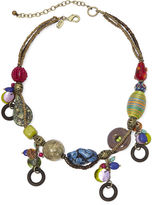 Amalfi by Rangoni Aris by Treska Coast Multicolor Bead Dangle Necklace
