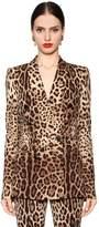 Dolce & Gabbana Leopard Stretch Silk Cady Jacket