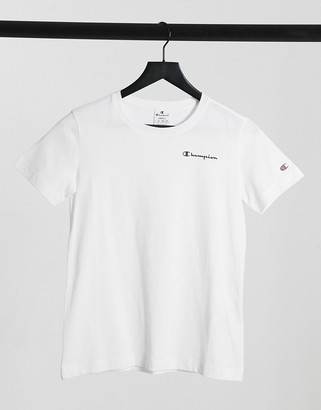Champion crew neck t-shirt in white