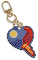 Tory Burch Parrot Heart Leather Keychain