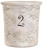 Home Decorators Collection Farmhouse 11 in. x 11 in. x 12 in. Crock in Distressed White
