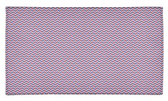 East Urban Home Chevron Handmade Blue/Red Area Rug Rug Size: Rectangle 2' x 3'