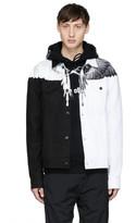Marcelo Burlon County Of Milan Black and White Denim Aish Jacket