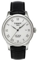 Tissot Mens Silvertone and Leather Watch