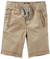 Osh Kosh Toddler Boy Brown Pull-On Canvas Shorts