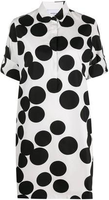 Akris Punto Polka Dot Print Shirt Dress