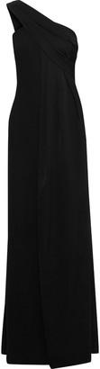 Rachel Zoe Kareen One-shoulder Draped Crepe Gown
