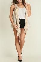 Umgee USA Ruffle Lace Vest