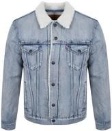 Levi's Levis Sherpa Trucker Jacket Blue