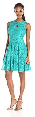 Julian Taylor Women's Fit and Flare Lace Dress with Ket Hole