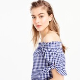 J.Crew Off-the-shoulder top in gingham