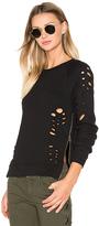 Black Orchid Side Zip Distressed Sweatshirt