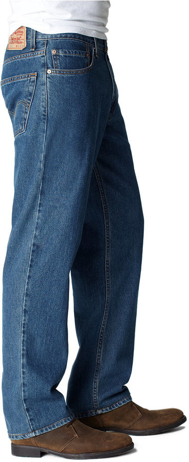 Levi's Big and Tall 550 Relaxed Fit Dark-Stonewash Jeans