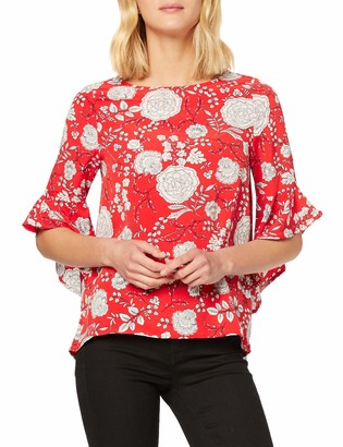 Yumi Women's Floral Printed Tunic Top T-Shirt