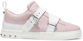 Valentino V-punk Studded Leather Sneakers
