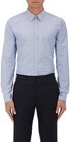Barneys New York Men's Neat Cotton Shirt-BLUE