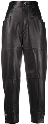 Isabel Marant Xiamao high-waisted leather trousers