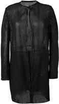 Salvatore Santoro - open front cardi coat - women - Leather - 42