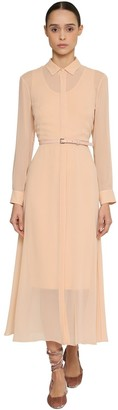 Max Mara Light Silk Crepe Shirt Dress