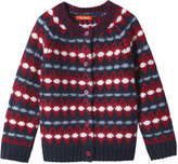 Joe Fresh Toddler Girls' Fair Isle Print Cardigan, Red (Size 5)
