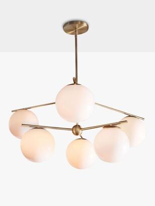 west elm Sphere + Stem Ceiling Light, Brass