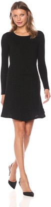 Michael Stars Women's Jasper Poorboy Crew Neck Long Sleeve Dress