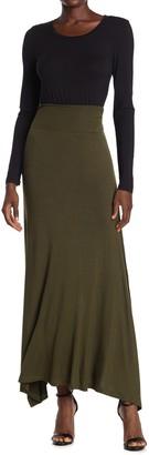 Bobeau Side Slit Knit Maxi Skirt