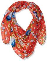 D&Y Women's Floral Buds Lightweight Square Scarf