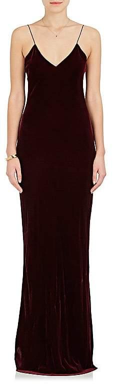 Nili Lotan Women's Sasha Velvet Maxi Slipdress