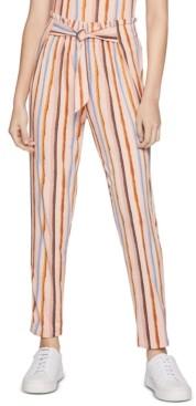 BCBGeneration Striped Tie-Waist Pants