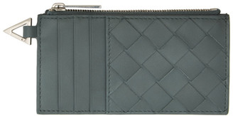 Bottega Veneta Grey Intrecciato Coin Card Holder