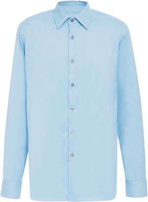 Prada Stretch Cotton Blend-Poplin Shirt