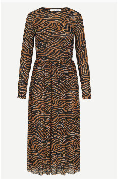 Samsoe & Samsoe Vivi Dress - Argan Moonscape - Size S (UK 8 -10)