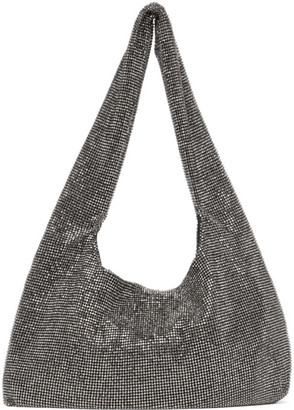 Kara Black Hematite Mesh Armpit Bag