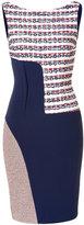 Prabal Gurung Asymmetric Patchwork Sheath Dress