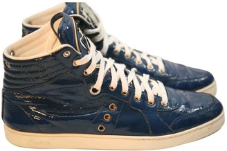Gucci Blue Patent leather Trainers