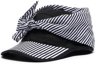 Bernstock Speirs Stripe panel tie front cap
